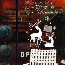 New DIY Christmas Wall Stickers Window Glass Festival Decals Santa Murals New Year Christmas Decorations for Home Decor 50*70cm 2020 merry christmas wall stickers window glass festival wall decals santa murals new year christmas decorations for home decor