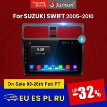 Автомагнитола Junsun V1, мультимедийный проигрыватель на Android 10,0 с голосовым управлением и ИИ для Suzuki Swift 2005, 2006, 2007, 2008-2010, 2 Din