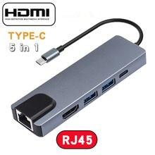 Tipo c usb c hub com fonte de alimentação USB-C divisor doca compatível com macbook/pro/ar android telefone laptops tablet