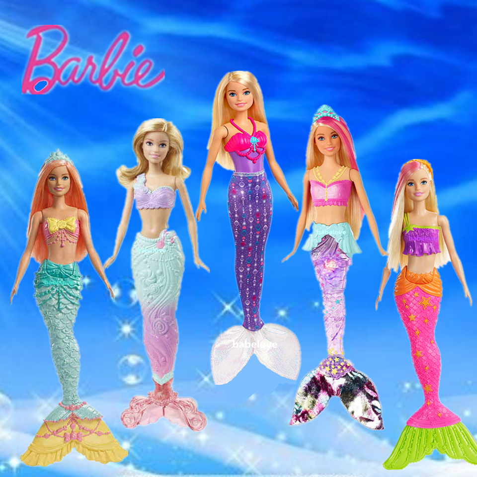 New Mermaid Doll 12-inch Barbie Doll Xmas Girls Toys Mermaid Gifts Pink Blue