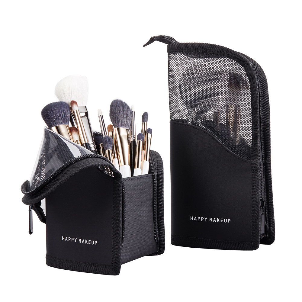 New Makeup Brushes Pouch Transparent Multifunction Multifunction Brush Bag Half Travel Clear Makeup Bag Organizer Toiletry Bags