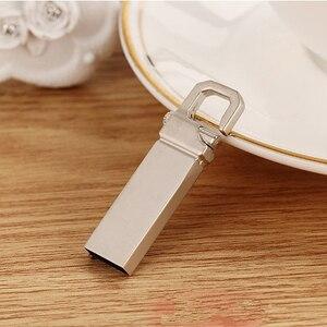 Metal USB Flash Drive 64GB Stain Steel Pendrive Waterproof High Speed Pen Drive 8GB 16GB 32GB 128GB USB Stick Flash Drive(China)