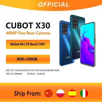 Cubot X30 Smartphone 48MP Cinque Fotocamera 32MP Selfie 6 + 128GB/8GB + 256GB NFC 6.4 FHD +4200mAh Batteria  Google Android 10 Globale Versione Helio P60 WIFI 2.4G/5G Doppia SIM Card del telefono mobile 4G LTE celular 1
