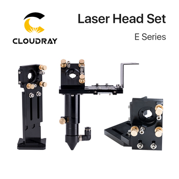 Cloudray New CO2 E Series Laser Head Set with Lens D20mm FL50.8 & 63.5 & 101.6 Mirror 25mm for Laser Engraving Cutting Machine fireray co2 laser head set kit 1pcs dia 20mm znse focus lens 3pcs dia 25m mo si mirror 25mm for laser engraving cutting machine