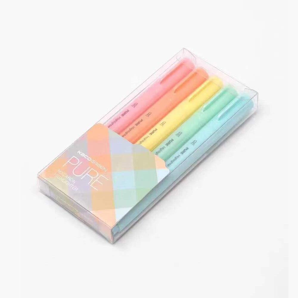5 цветов s/лот Kaco хайлайтер Macaron пастельный цвет ручка для школы маркер Канцтовары офисные марки