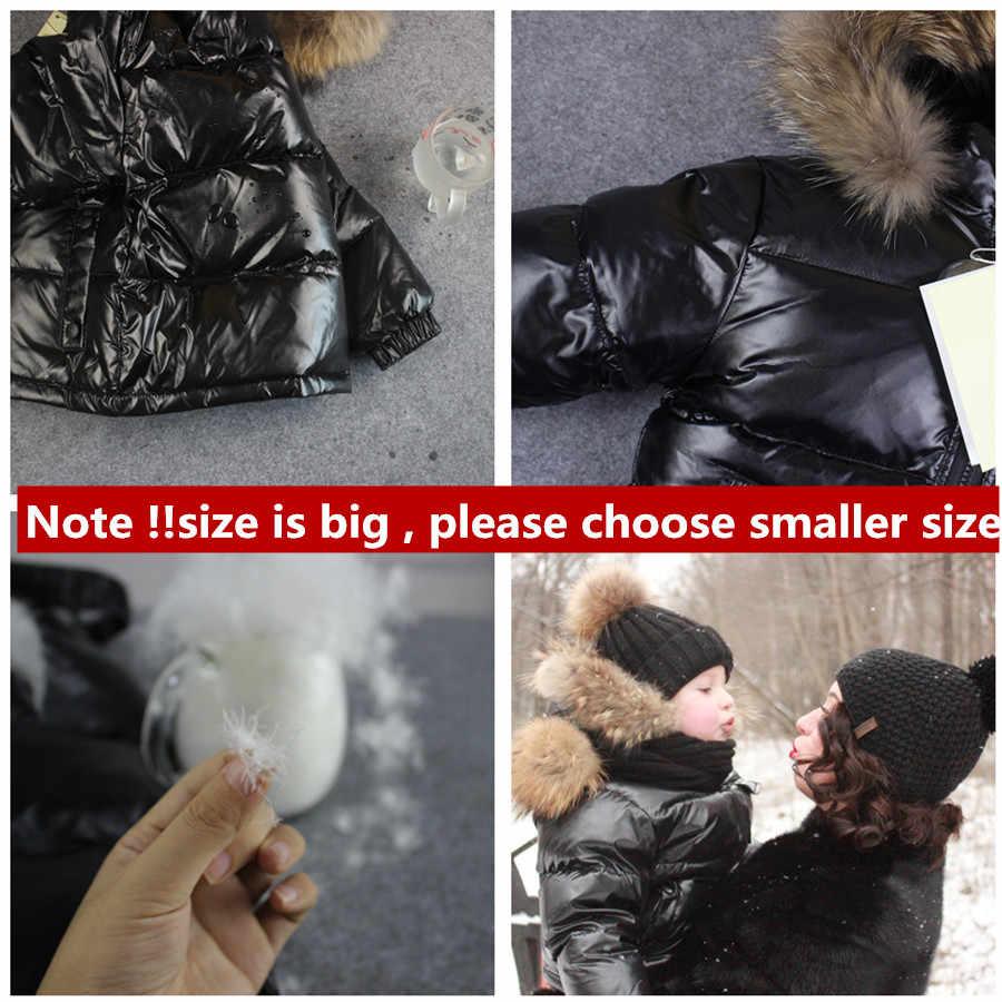 2019 חורף מעיל parka עבור בני מעילים, 90% למטה בנות מעילי בגדי ילדים שלג ללבוש ילדים הלבשה עליונה פעוט ילד בגדים