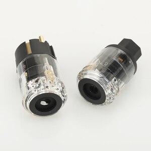 Image 4 - Para P029E + C029 wtyczka zasilania ue IEC siła żeńska złącze hifi diy wtyczka kabla zasilającego