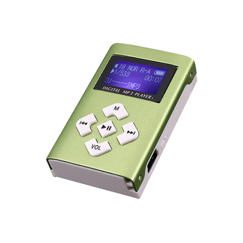 1pc Portable Simple MP3 Player Speaker With LCD Screen Metal Mini Sport Music Media Player With Radio Support TF Card 6