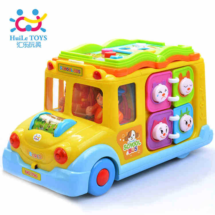 Department Of Music 796 Intellectual Campus Bus Children'S Educational Early Childhood Toy Car Universal Light Learning Music E-
