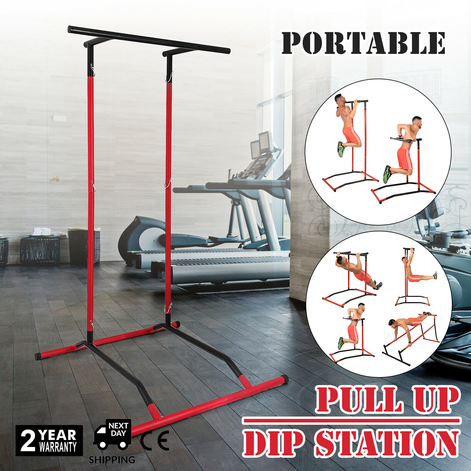 Free Duty For EU USA Portable Pull Up Bar (No Bag) Pull Up Bar And Dip Station Power Tower