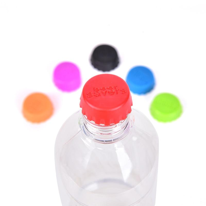 6pcs Beer Bottle Cap Silicone Colorful Leak Free Wine Bottle Sealer Stopper