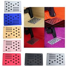 1pc Universal Car Floor Mat Foot Heel Scuff Plate Non-slip Carpet Patch Automobile Alloy Wear Plate Anti-skid Pad plate floor pad plate type flower type printing anti slip absorbent flannel home floor pad