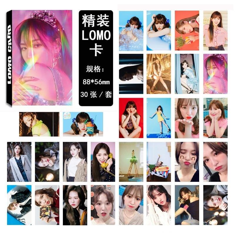 30pcs/set Kpop Red Velvet Photocard WENDY Single Lomo Card High Quality HD Picture Kpop Red Velvet Redvelvet Album Poster Card