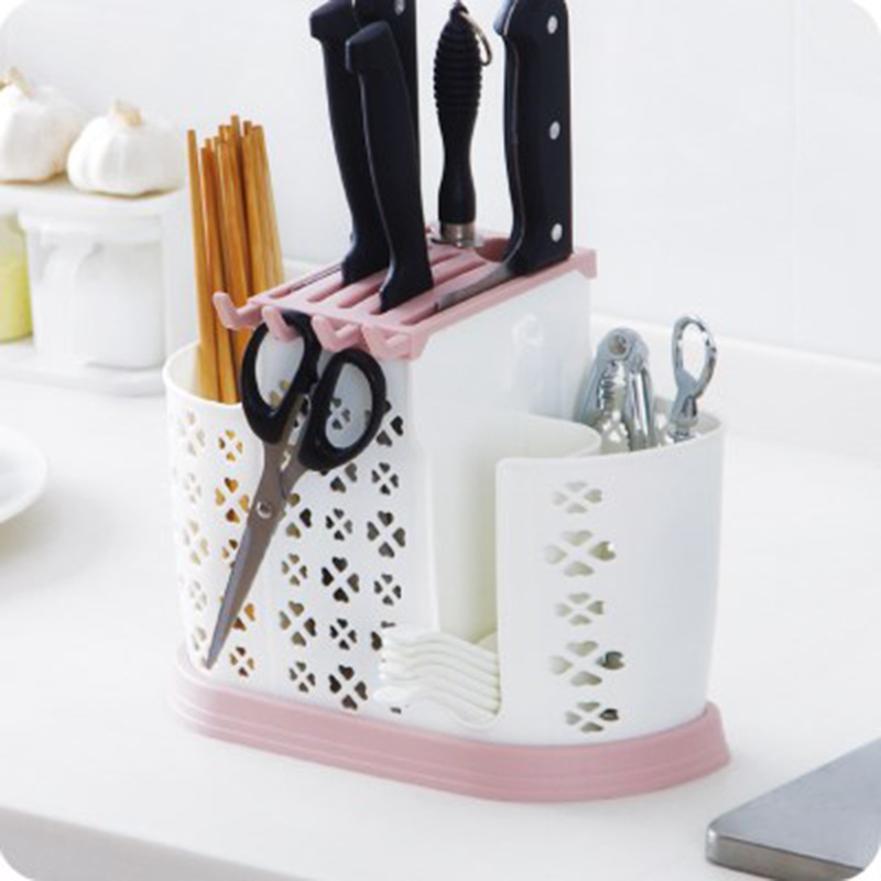 Knife Bags for Chefs Home Tableware Knife Block Multifunction Plastic Knife Holder Chopsticks Holder Stand for Knives Kitchen|Blocks & Roll Bags| |  - title=