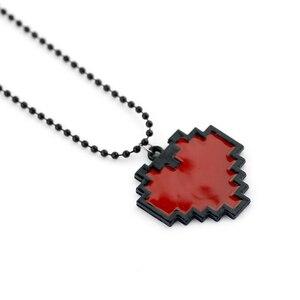 Аниме пиксель Сердце ожерелье красный цвет-Undertale Косплей из Frisk - 24 мультфильм классика фильм ювелирные изделия Косплей шик цепь унисекс
