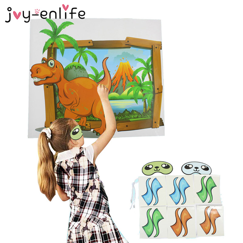 Dinosaur Party Supplies Pin The Tail On The Dinosaur Game Wild One Boy Birthday Party Game Roar Dino Jungle Party DIY Decoration