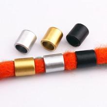 10pcs Retro Gold/Silver/Black Hair Braid Dread Dreadlock Plastic Beads Rings Tube Braiding Hair Accessories