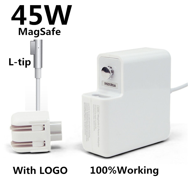New! with logo oem l-tip 45w laptop magsaf* power adapter charger for apple macbook air 11'' 13'' a1374 a1304 a1369 a1370