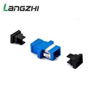 Image 2 - 500 Pcs Nieuwe Glasvezel Connector Adapter SC/UPC SM Flens Singlemode Simplex SC SC Coupler Gratis Verzending Groothandel LSZH