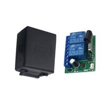цена на 433Mhz universal wireless remote control switch DC 12V 2ch relay receiver module RF transmitter 433Mhz remote control