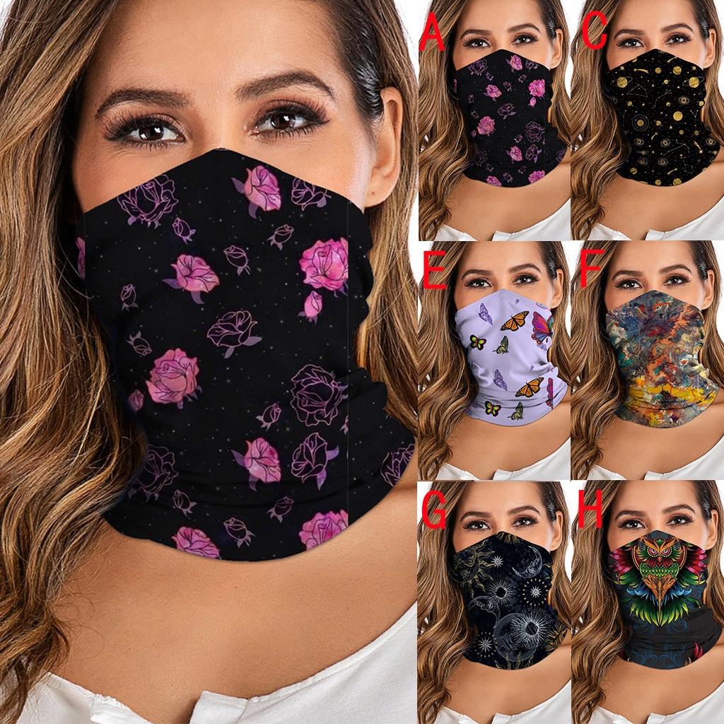 Unisex Washable Rave Bandana Neck Gaiter Tube Headwear For Women Men Face Scarf Dustproof Motorcycle Facemask Windproof Scarf(China)