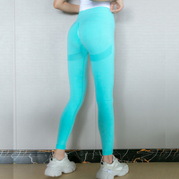 GREEN-Seamless Yoga Leggings Women Sportwear