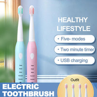 Automatic Sonic Electric Toothbrush Head Portable Heads Electric Toothbrush Rechargeable Tooth Brush Rechargeable Waterproof