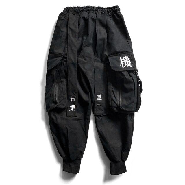 11 BYBB'S DARK Multi Pocket Hip Hop Pants Men Ribbon Elastic Waist Harajuku Streetwear Joggers Mens Trousers Techwear Pants 6