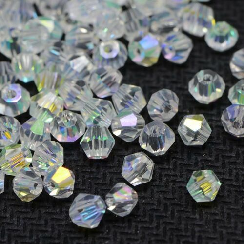 BEAUCHAMP 4mm Crystal Beads Bicone Shape Stone Jewelry Findings Tassel Lariat Earring Glass Quartz Charms Bracelet Accessories