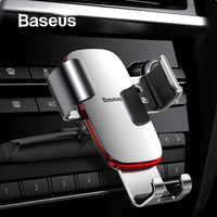 Baseus gravité voiture téléphone support pour voiture CD fente évent montage support pour téléphone support pour iPhone X Samsung métal support pour téléphone Mobile