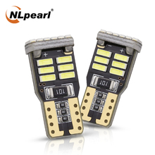 NLpearl T10 W5W LED Signal Lamp Super Bright 4014 18SM Canbus Led 194 168 Car License Plate Light Interior Dome White