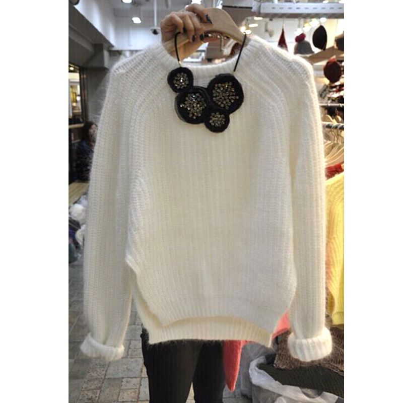 2019 Autumn Sweater New Womens Casual Thick Long-sleeved Women Pullovers