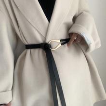 Women's leather belt, new fashion, leather designer, metal buckle, waistband strap, women's dress, jacket, sweater, decorative,