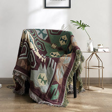 Bohemian Geometric Sofa Blankets Decorative Throws Blanket on Sofa/Bed/Plane Knit Blanket Travel Stitching Blanket Home Textile(China)