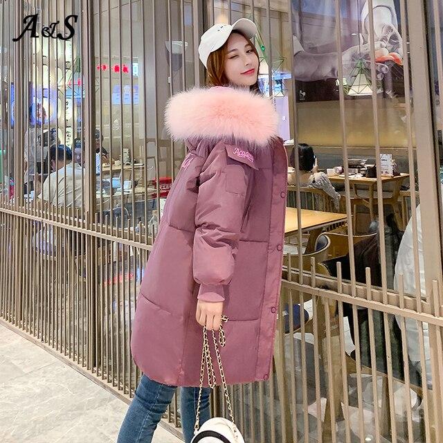 Фото anbenser женское зимнее теплое пальто с капюшоном размера плюс цена