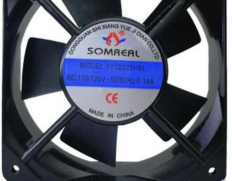 For SOMREAL XY12025HSL 220V 0.10A Cabinet Silent Cooling Fan XY12025HBL Free Shipping