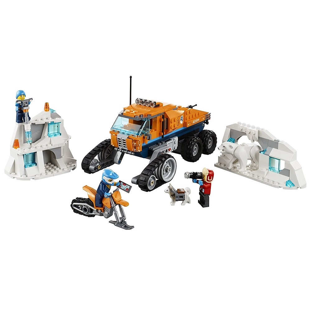 Arctic Scout Truck City Arctic Expedition <font><b>60194</b></font> Building Blocks Bricks Model toys for Childrens kid gift image