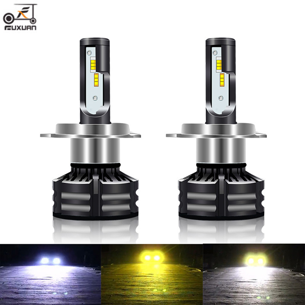 FUXUAN Canbus lampada H4 H7 <font><b>LED</b></font> Car Headlight 12V <font><b>20000LM</b></font> 4300K 6000K 3000K Lamp <font><b>H3</b></font> H1 9005 HB3 9006 HB4 H8 H9 H11 light Bulb image