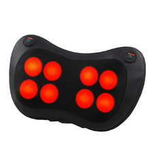 Relaxation Massage Pillow Vibrator Electric Shoulder Back Heating Kneading Infrared therapy shiatsu Neck Massage New electric infrared heating kneading neck shoulder back body spa massage pillow car chair shiatsu massager masaj device
