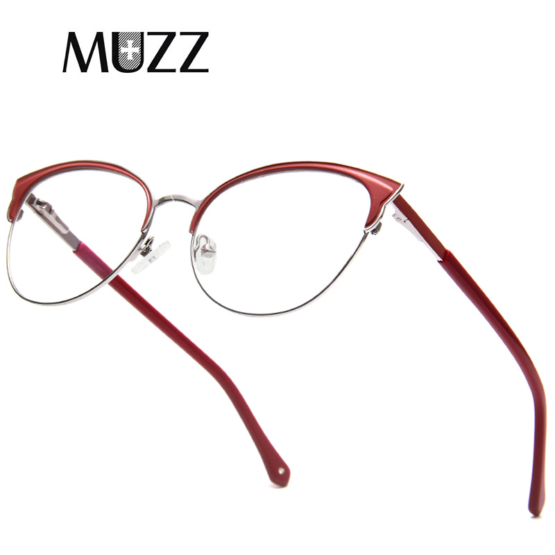 MUZZ Retro Cat Eye Glasses Frame Optical Glasses Prescription Glasses  Myopia Eyeglasses Frames Eyewear Oculos De Grau Feminino