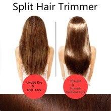 Corte de cabelo rachado trimmer alisador de cabelo clipper ramos peludos fim divisão aparador de cabelo built-in bateria rachado cabelo cortador