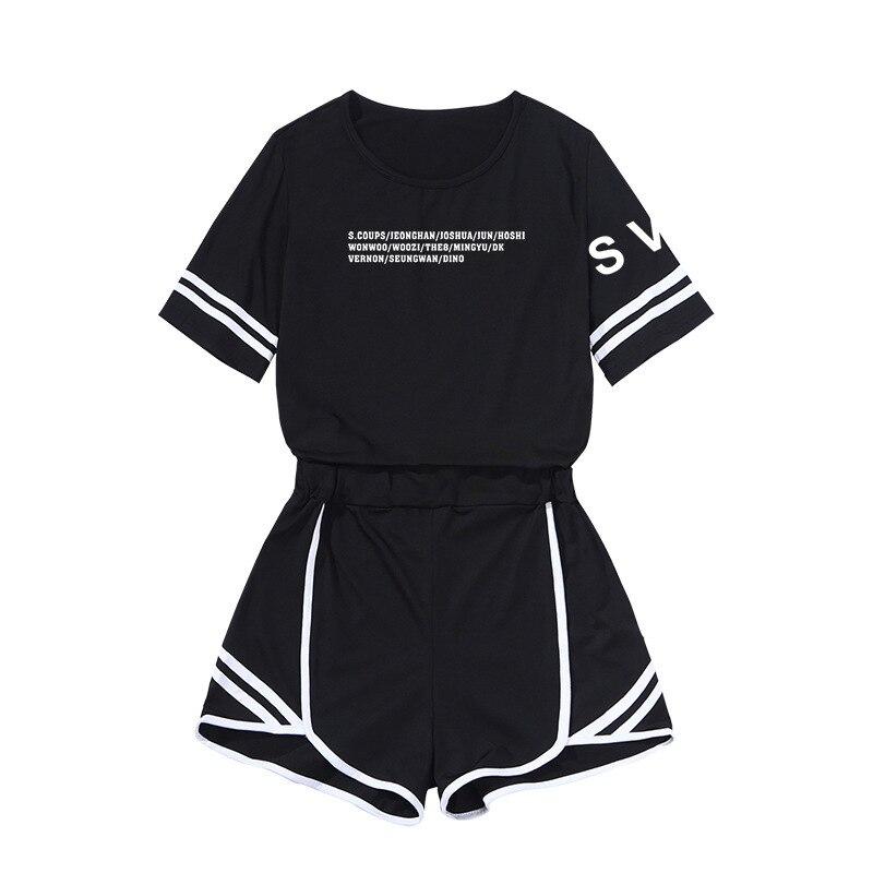 Seventeen Japan Tour FM Concert Related Products Two-Piece Set Sports Navel Set WOMEN'S Dress Casual Slim Fit Short Skirt