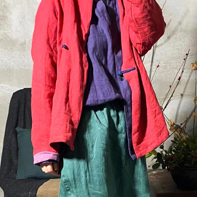 Women linen Spring Autumn Solid COlor Simple Blouse shirt Tops Ladies Vintage Irregular Length Flax Shirt Tops 2020 3