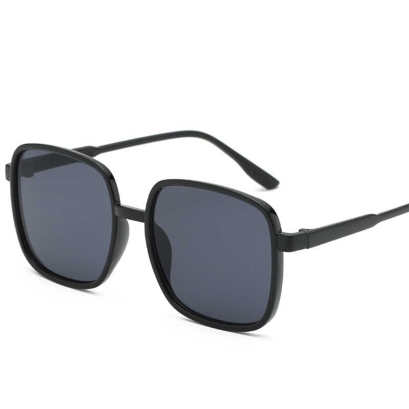 Черная оправа классические дизайнерские солнцезащитные очки с большими рамами
