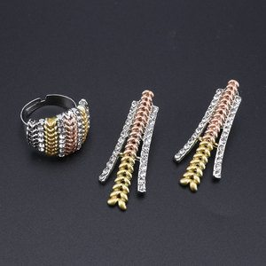 Image 5 - Fashion Wedding Dubai Africa Nigeria African Jewelry Set Silver Plated Necklace Earrings Set Romantic Woman Bridal Jewelry Sets