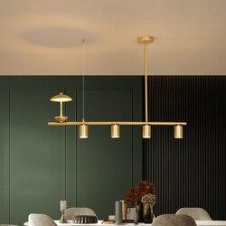 Nordic Led Hanglamp Voor Living Eetkamer Loft Slaapkamer Keuken 5 Hoofden Gouden Lange Plafond Zwevende Lamp Woondecoratie