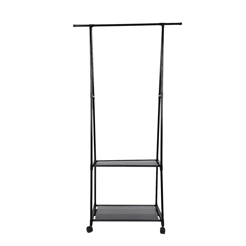 Floor-Standing Coat Rack Metal Activity Balcony Indoor Clothing Hanger With Casters 160X55X42Cm Handbag Shoes Coat Rack Drying R