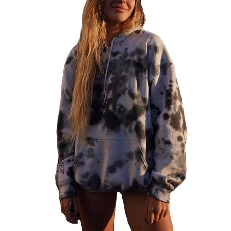 Autumn Casual Unisex Graffiti Print Hip-hop Loose Hoodies For Men And Women Gym Wear Cool Men Or Women Lover Hoodies