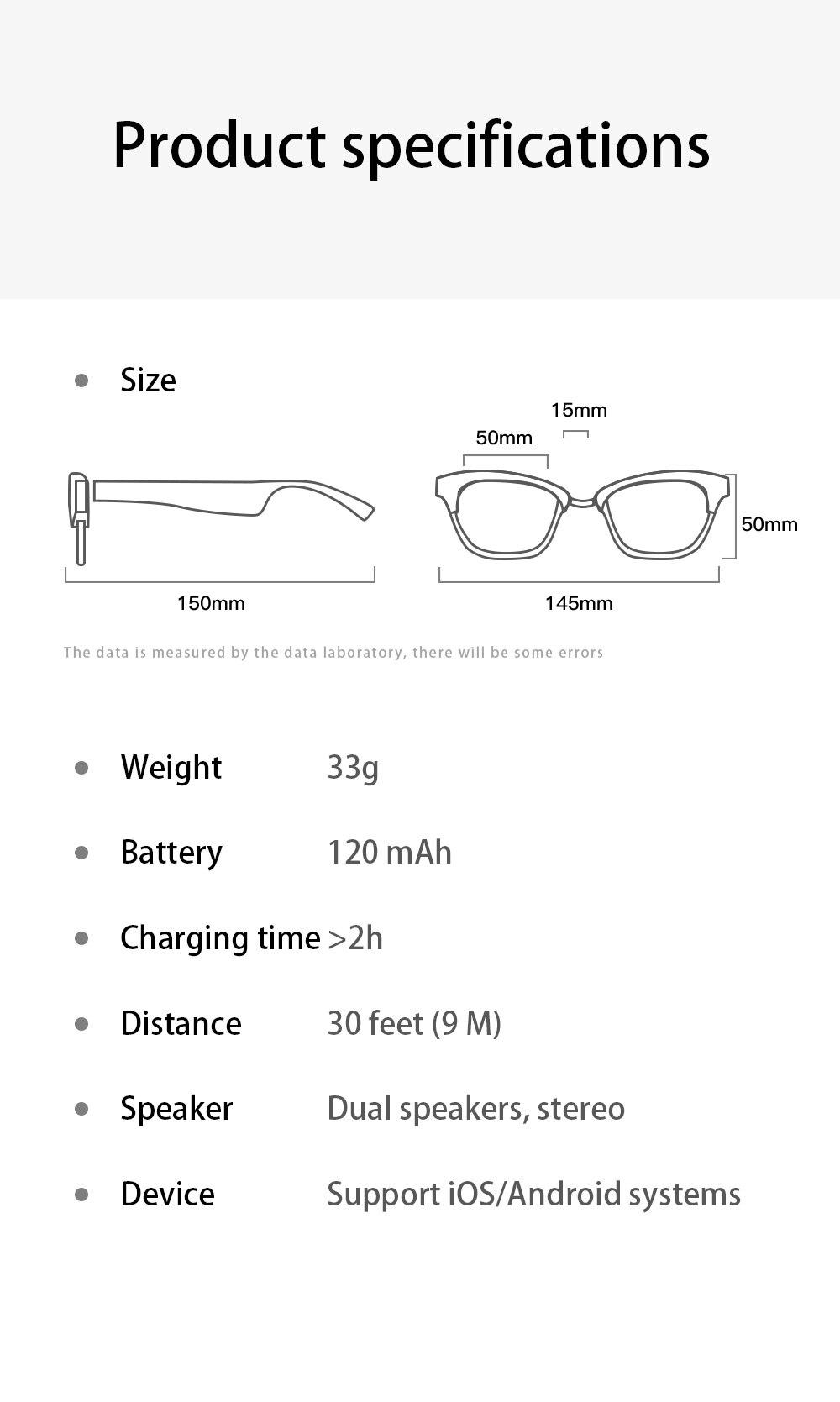 fidelidade aberto falante ipx64 óculos de sol inteligentes para ios android