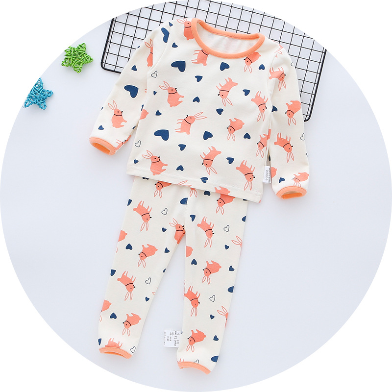 Infants Child Home Clothing Korean-style Autumn High-waisted Nursing Belly Warm Tracksuit Baby Pajamas Suit